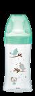 Initiation+ anti-colique verre 270ml vert Oiseaux 0-6 mois tétine ronde 3 vitesses débit 2