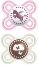 Perfect naissance 0-2+ mois décor silicone boite de 2 coloris aléatoire