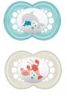 """6+ mois """"animaux"""" silicone boite de 2 coloris aléatoire"""