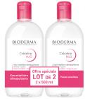 H2O Solution micellaire sans parfum Lot de 2x500ml