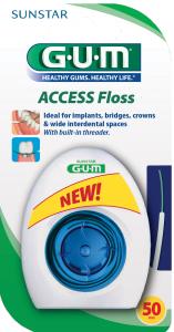 Fil dentaire mousse et passe-fil intégré