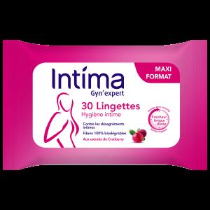 lingettes cranberry sachet de 30