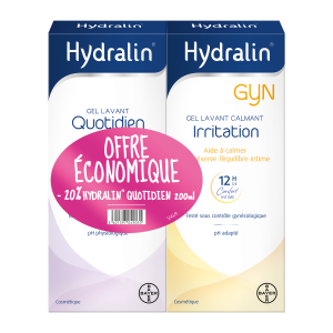 Lot hydralin Gyn + hydralin Quotidien 2x200ml