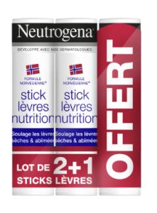 Trio stick lèvres nutrition 48g 2+1 offert