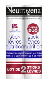 Duo stick lèvres nutrition 48g -50% sur le second