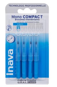 brossettes interdentaires mono compact 0.8mm bleu boîte de 4