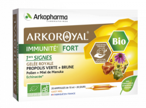 immunité fort bio ampoules 10ml boite de 20