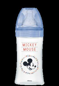 Initiation+ anti-colique 270ml Mickey Bleu 0-6 mois tétine ronde 3 vitesses débit 2