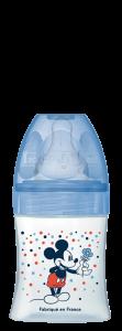 Initiation+ anti-colique 150ml Mickey Bleu 0-6 mois tétine ronde 3 vitesses débit 1