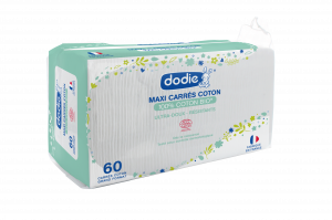 Maxi carrés coton 100% Bio boite de 60