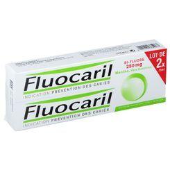 dentifrice bi-fluoré 250 mg goût menthe lot de 2x75ml