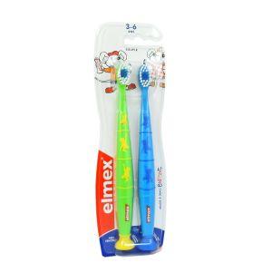 Brosse à dents enfant souple duopack 3/6ans