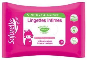 Lingettes intimes paquet de 25