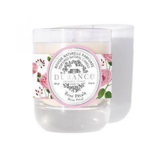 Bougie naturelle parfumée Rose pétale 180g