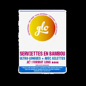 Pack de 10 Serviettes anti-fuites ultra long en Bambou bio