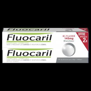 Pâtes dentifrice bi-fluoré 145mg blancheur menthe 2x75ml