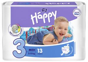 13 couches bébé taille 3 5-9kg