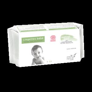 54 lingettes bébé coton bio