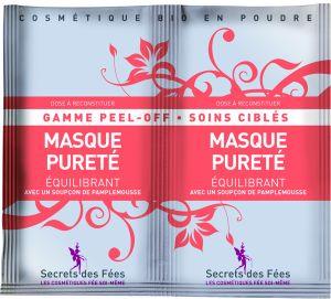 Masque BIO peel-off pureté équilibrant 2 sachets de 8g