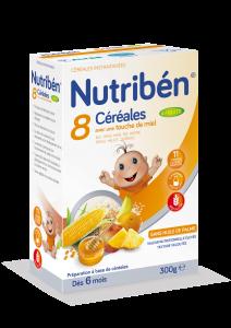 8 céréales et miel aux 4 fruits boite de 300g