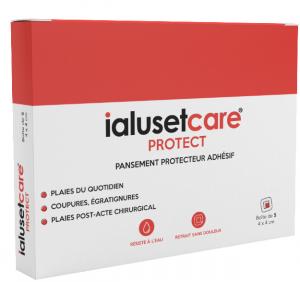 Protect pansement protecteur adhésif 4x4cm boite de 5