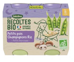 Nuit petits pois champignons riz 2x130g