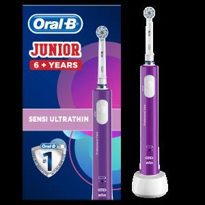 Junior 6+ Violette Brosse À Dents Électrique