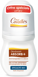 Déodorant roll-on efficacité 48h 2x50ml
