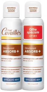 2 déodorant spray efficacité 48h 2x150ml