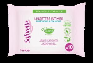 Lingettes intimes pocket biodégradables sachet de 10