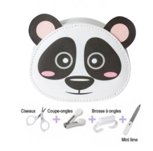 Set de manucure bébé panda