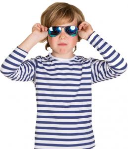 Taille 6ans mixte marin-rayé bleu