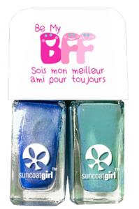 Duo Twinnies bleu et turquoise 2 vernis de 5ml