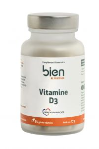 Vitamines D3 boite de 60 gélules